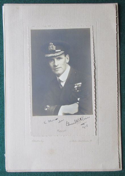 Antarctic Explorer Admiral Edward Mountevans 1918 Antique Signed photo & Archive